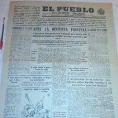 Coleccionismo de Revistas y Periódicos: DIARIO EL PUEBLO (PARTIDO SINDICALISTA, EDITADO EN VALENCIA) 4 DE DICIEMBRE DE 1937 (GUERRA CIVIL). Lote 187123418