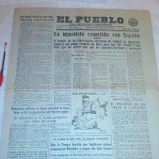 Coleccionismo de Revistas y Periódicos: DIARIO EL PUEBLO (PARTIDO SINDICALISTA, EDITADO EN VALENCIA) 7 DE DICIEMBRE DE 1937 (GUERRA CIVIL). Lote 187123448