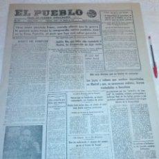 Coleccionismo de Revistas y Periódicos: DIARIO EL PUEBLO (PARTIDO SINDICALISTA, EDITADO EN VALENCIA) 5 DE AGOSTO DE 1937 (GUERRA CIVIL). Lote 187123525