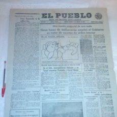 Coleccionismo de Revistas y Periódicos: DIARIO EL PUEBLO (PARTIDO SINDICALISTA, EDITADO EN VALENCIA) 3 DE AGOSTO DE 1937 (GUERRA CIVIL). Lote 187123605
