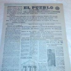 Coleccionismo de Revistas y Periódicos: DIARIO EL PUEBLO (PARTIDO SINDICALISTA, EDITADO EN VALENCIA) 6 DE AGOSTO DE 1937 (GUERRA CIVIL). Lote 187123646
