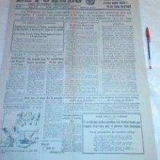 Coleccionismo de Revistas y Periódicos: DIARIO EL PUEBLO (PARTIDO SINDICALISTA, EDITADO EN VALENCIA) 7 DE AGOSTO DE 1937 (GUERRA CIVIL). Lote 187123672
