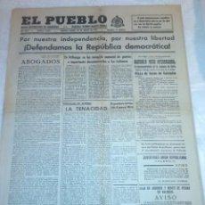 Coleccionismo de Revistas y Periódicos: DIARIO EL PUEBLO (PARTIDO SINDICALISTA, EDITADO EN VALENCIA) 20 DE MARZO DE 1937 (GUERRA CIVIL). Lote 187124005