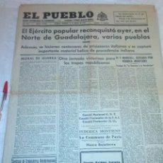 Coleccionismo de Revistas y Periódicos: DIARIO EL PUEBLO (PARTIDO SINDICALISTA, EDITADO EN VALENCIA) 21 DE MARZO DE 1937 (GUERRA CIVIL). Lote 187124081