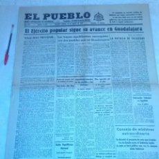 Coleccionismo de Revistas y Periódicos: DIARIO EL PUEBLO (PARTIDO SINDICALISTA, EDITADO EN VALENCIA) 23 DE MARZO DE 1937 (GUERRA CIVIL). Lote 187124221