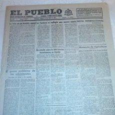 Coleccionismo de Revistas y Periódicos: DIARIO EL PUEBLO (PARTIDO SINDICALISTA, EDITADO EN VALENCIA) 24 DE JULIO DE 1937 (GUERRA CIVIL). Lote 187124278
