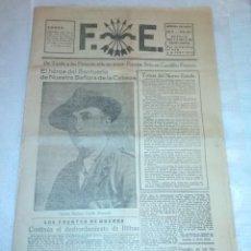 Coleccionismo de Revistas y Periódicos: DIARIO F. E. (FALANGE ESPAÑOLA) 11 DE MAYO DE 1937 (SEVILLA) (REPÚBLICA, GUERRA CIVIL, FALANGISMO). Lote 187124640
