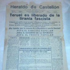 Coleccionismo de Revistas y Periódicos: DIARIO HERALDO DE CASTELLÓN - DIARIO ANTIFASCISTA - 22 DE DICIEMBRE DE 1937 (REPÚBLICA, GUERRA CIVIL. Lote 187125660