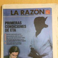 Coleccionismo de Revistas y Periódicos: LA RAZON N 1 5 DE NOVIEMBRE DE 1998. Lote 187145226