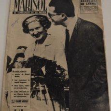 Coleccionismo de Revistas y Periódicos: MARISOL EL SEMANARIO DE LA MUJER Nº 445 - AÑO 1962 - LA MUERTE DE RAQUEL MELLER - MARA LASSO. Lote 187164871