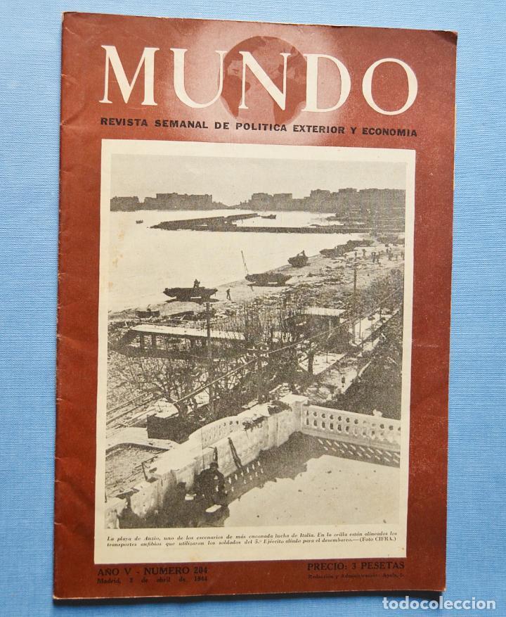 MUNDO - REVISTA DE ECONOMIA Y POLITICA EXTERIOR - Nº 184 - 1943 (Coleccionismo - Revistas y Periódicos Modernos (a partir de 1.940) - Otros)