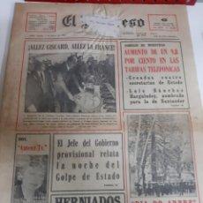 Coleccionismo de Revistas y Periódicos: LUGO PERIDICO PROGRESO 1981 7 MARZO RELATO GOLPE ESRADO JEFE GOBIERNO.TARZAN..ANUNCIO TALBOT.. Lote 187414310