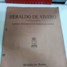 Coleccionismo de Revistas y Periódicos: HERALDO DE VIVERO LUGO FUNDADO 1812 PERIODICO MEDALLA HONOR CIUDADE DE VIVERO. Lote 187418217