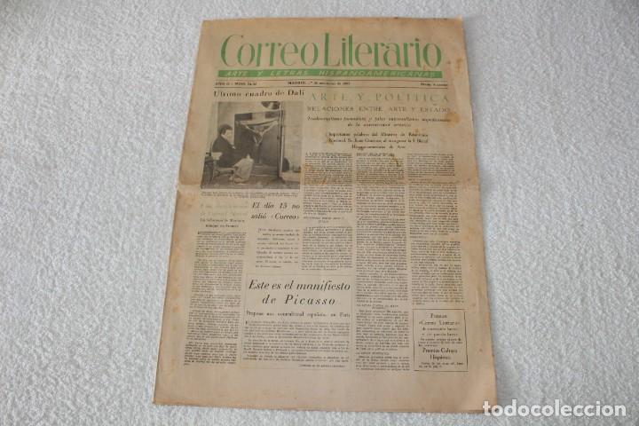PERIÓDICO: CORREO LITERARIO (1 DE NOVIEMBRE DE 1951) - DALÍ, PICASSO, GABRIELA MISTRAL..... (Coleccionismo - Revistas y Periódicos Modernos (a partir de 1.940) - Otros)