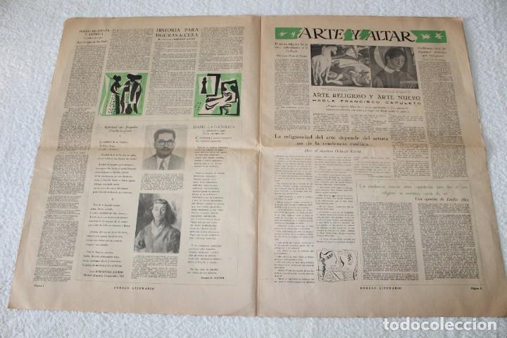 Coleccionismo de Revistas y Periódicos: PERIÓDICO: CORREO LITERARIO (1 de Noviembre de 1951) - DALÍ, PICASSO, GABRIELA MISTRAL..... - Foto 4 - 187430472