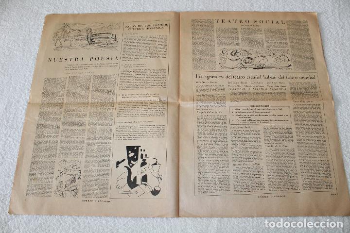 Coleccionismo de Revistas y Periódicos: PERIÓDICO: CORREO LITERARIO (1 de Noviembre de 1951) - DALÍ, PICASSO, GABRIELA MISTRAL..... - Foto 5 - 187430472