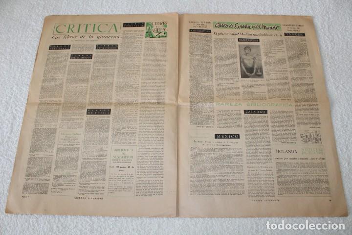 Coleccionismo de Revistas y Periódicos: PERIÓDICO: CORREO LITERARIO (1 de Noviembre de 1951) - DALÍ, PICASSO, GABRIELA MISTRAL..... - Foto 8 - 187430472