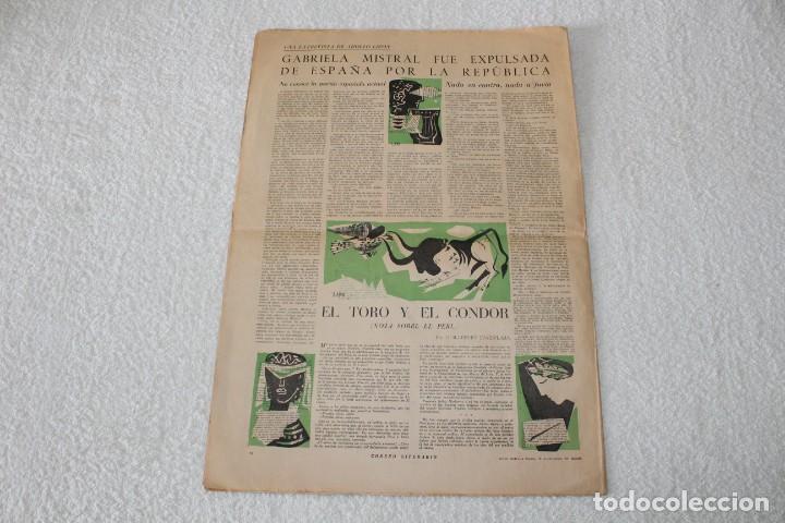 Coleccionismo de Revistas y Periódicos: PERIÓDICO: CORREO LITERARIO (1 de Noviembre de 1951) - DALÍ, PICASSO, GABRIELA MISTRAL..... - Foto 10 - 187430472