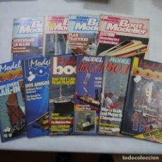 Coleccionismo de Revistas y Periódicos: LOTE DE 10 REVISTAS DE RADIOCONTROL DE BARCOS: 4 DE BOAT MODELLER Y 6 DE MODEL BOAT. Lote 187455541