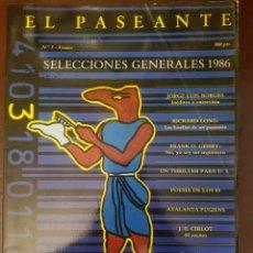 Coleccionismo de Revistas y Periódicos: REVISTA EL PASEANTE N°3 SELECCIONES GENERALES 1986. Lote 187525376