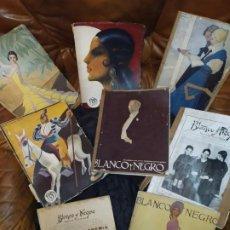 Coleccionismo de Revistas y Periódicos: LOTE REVISTAS BLANCO Y NEGRO 1921 1934 1935 1936 CATÁSTROFE VILLAVERDE DUQUESA ALBA INTERESANTES. Lote 188526428