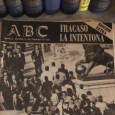 Coleccionismo de Revistas y Periódicos: PERIÓDICO ABC EXTRA 24 DE FEBRERO, GOLPE DE ESTADO. TEJERO. Lote 188611752