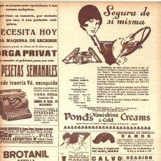 Coleccionismo de Revistas y Periódicos: 1928 HOJA REVISTA PUBLICIDAD RECORTE PRENSA ANUNCIO CREMA POND'S VANISHING CREAM. Lote 188688657
