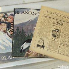 Coleccionismo de Revistas y Periódicos: 3 REVISTAS BLANCO Y NEGRO. AÑO 1923 Y 1924.. Lote 188689195