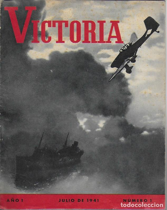 ( REVISTA ALEMANA SEGUNDA GUERRA MUNDIAL ) VICTORIA. AÑO 1 NÚM. 1. JULIO 1941. 27X21CM. 16 P. (Coleccionismo - Revistas y Periódicos Modernos (a partir de 1.940) - Otros)