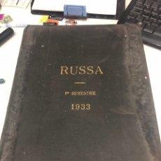 Coleccionismo de Revistas y Periódicos: RUSSA REVUE UNIVERSELLE DES SOIES ET DES SOIES ARTIFICIELLES. Lote 188808146
