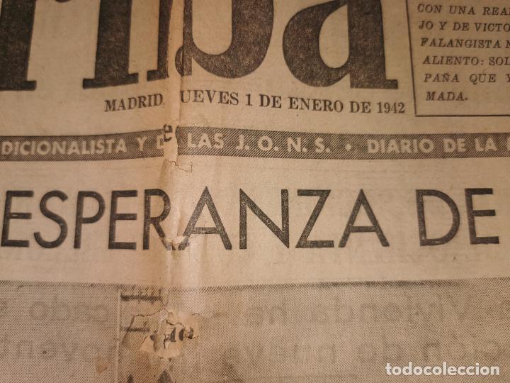 Coleccionismo de Revistas y Periódicos: Periodico Arriba numero 859 Jueves 1 de Enero de 1942 - Foto 3 - 188819920