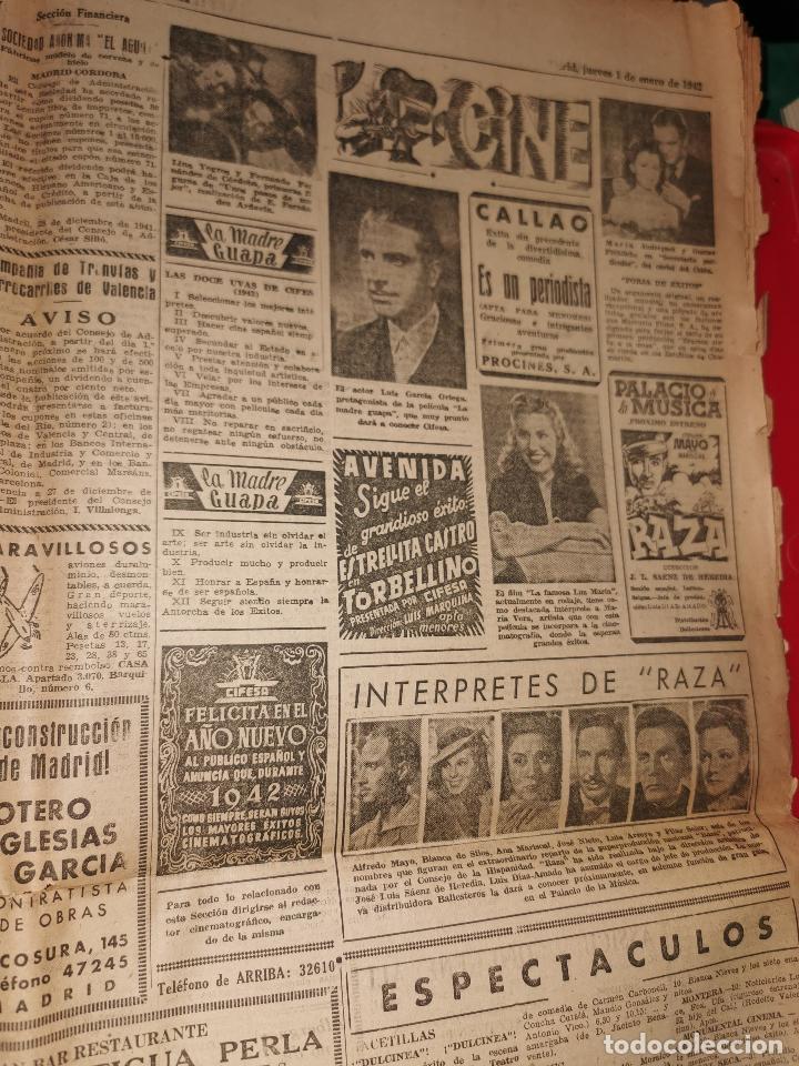Coleccionismo de Revistas y Periódicos: Periodico Arriba numero 859 Jueves 1 de Enero de 1942 - Foto 5 - 188819920