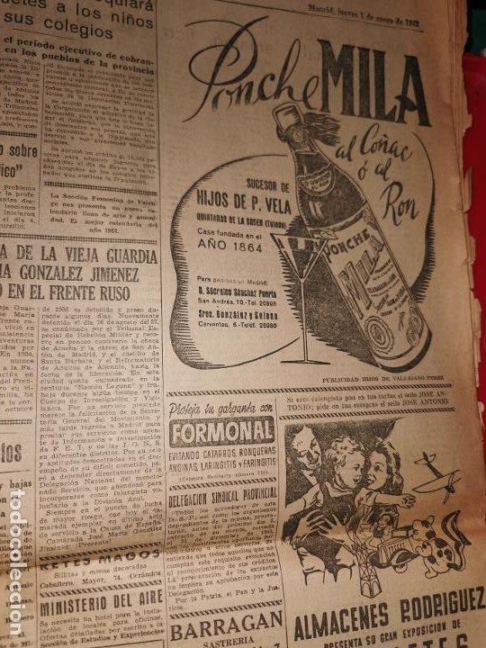 Coleccionismo de Revistas y Periódicos: Periodico Arriba numero 859 Jueves 1 de Enero de 1942 - Foto 6 - 188819920