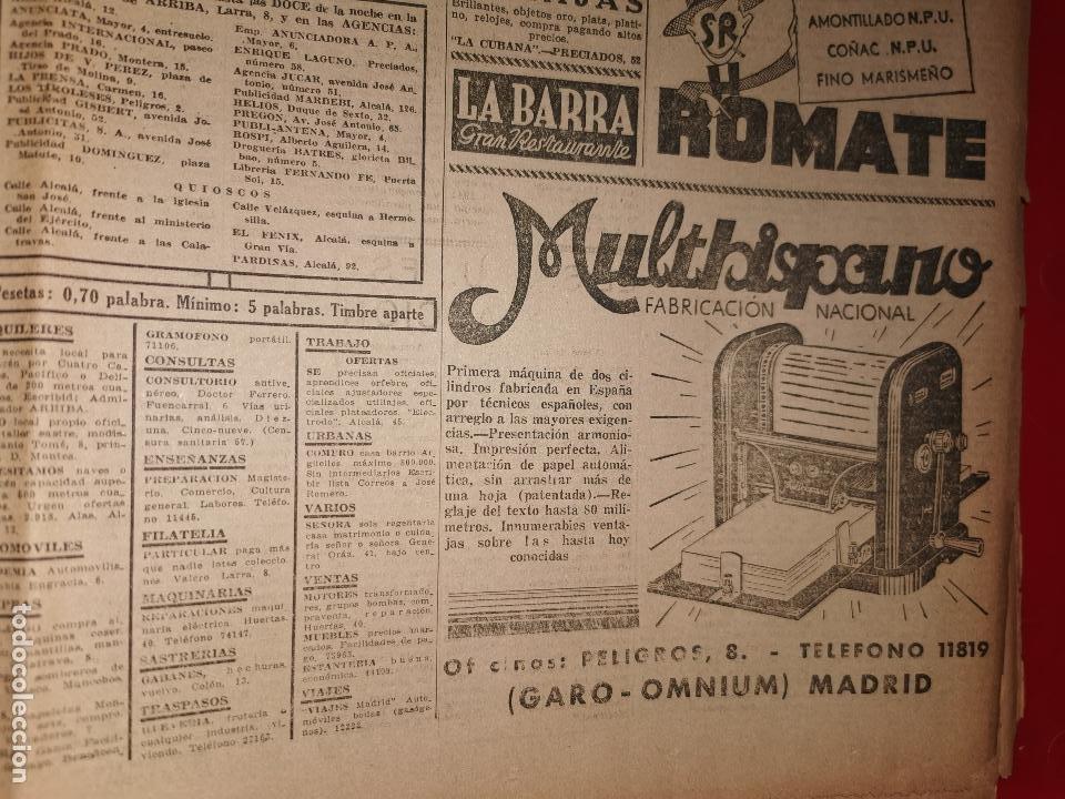 Coleccionismo de Revistas y Periódicos: Periodico Arriba numero 859 Jueves 1 de Enero de 1942 - Foto 7 - 188819920