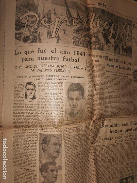Coleccionismo de Revistas y Periódicos: Periodico Arriba numero 859 Jueves 1 de Enero de 1942 - Foto 9 - 188819920