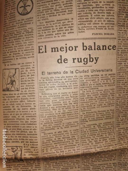 Coleccionismo de Revistas y Periódicos: Periodico Arriba numero 859 Jueves 1 de Enero de 1942 - Foto 11 - 188819920