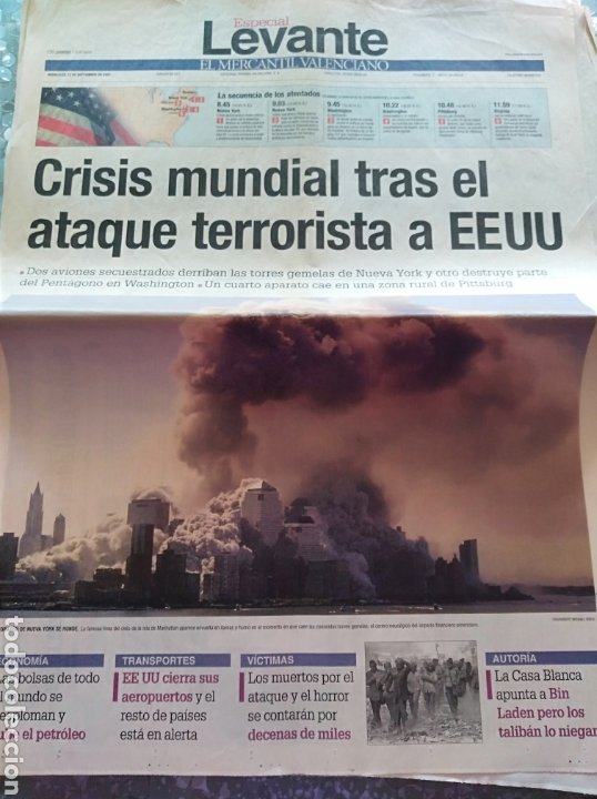 Coleccionismo de Revistas y Periódicos: Periodico Levante Torres Gemelas - Foto 5 - 84616842
