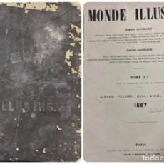 Coleccionismo de Revistas y Periódicos: LE MONDE ILLUSTRÉ. JOURNAL HEBDOMADAIRE. ENCUADERNADO.PARIS, 1867. 24 NUMEROS. DEL 508 AL 533. VER. Lote 189330325