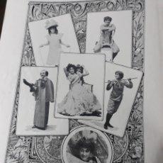 Coleccionismo de Revistas y Periódicos: TEATRO JAPONES - HOJA REVISTA AÑO 1900. Lote 189471348