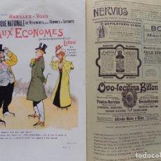 Coleccionismo de Revistas y Periódicos: LIBRERIA GHOTICA. BELLA REVISTA MODERNISTA PLUMA Y LAPIZ.NÚM.99.SEPTIEMBRE 1902.CARTEL LITOGRÁFICO. Lote 189593852