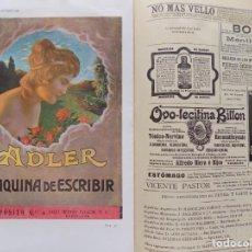 Coleccionismo de Revistas y Periódicos: LIBRERIA GHOTICA. BELLA REVISTA MODERNISTA PLUMA Y LAPIZ.NÚM.93.AGOSTO 1902.CON CARTEL LITOGRÁFICO. Lote 189594048