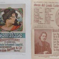 Coleccionismo de Revistas y Periódicos: LIBRERIA GHOTICA. BELLA REVISTA MODERNISTA PLUMA Y LAPIZ.NÚM.106.NOVIEMBRE 1902.CARTEL LITOGRÁFICO. Lote 189594713