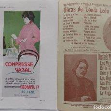 Coleccionismo de Revistas y Periódicos: LIBRERIA GHOTICA. BELLA REVISTA MODERNISTA PLUMA Y LAPIZ.NÚM.109.NOVIEMBRE 1902.CARTEL LITOGRÁFICO. Lote 189594793