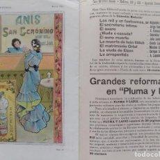 Coleccionismo de Revistas y Periódicos: LIBRERIA GHOTICA. BELLA REVISTA MODERNISTA PLUMA Y LAPIZ. NÚM. 127.ABRIL 1903.CON CARTEL LITOGRÁFICO. Lote 189595321