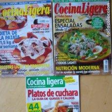 Coleccionismo de Revistas y Periódicos: LOTE 3 REVISTAS COCINA LIGERA. Lote 189622992