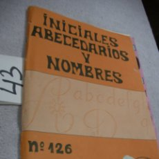 Coleccionismo de Revistas y Periódicos: INICIALES, ABECEDARIOS Y NOMBRES EN PATRONES PUNTO DE CRUZ. Lote 189699941