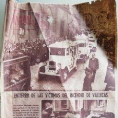Coleccionismo de Revistas y Periódicos: ABC 25 FEBRERO 1961 - ENTIERRO VÍCTIMAS INCENDIO VALLECAS. Lote 189876035