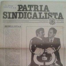 Coleccionismo de Revistas y Periódicos: TRANSICION. PATRIA SINDICALISTA Nº 7 FEBRERO 1978. FALANGE AUTENTICA. Lote 189887813