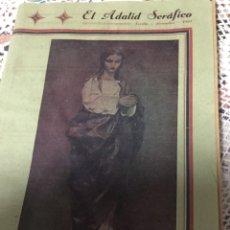 Coleccionismo de Revistas y Periódicos: REVISTA RELIGIOSA EL ADALID SERAFICO,SEVILLA 1941 NÚMERO 1087. Lote 189925607