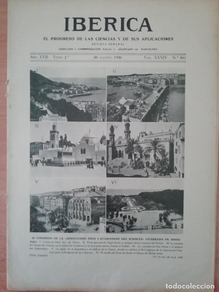 IBERICA Nº841 1930 COSTUMBRES DE LA MUJER CAMPESINA VALENCIANA (Coleccionismo - Revistas y Periódicos Antiguos (hasta 1.939))